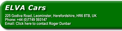 Click here to contact Roger Dunbar and Elva Racing